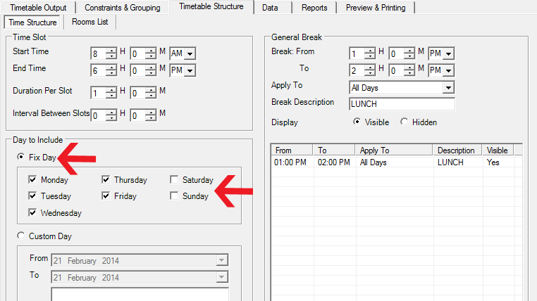 T-Plus Class: Fix day to Include or Exclude